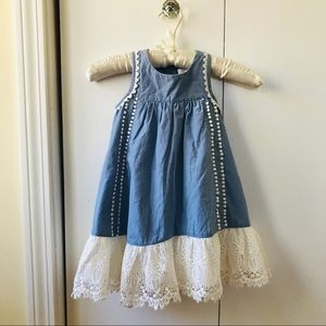 Artisan NY girls dress sz 3T, blue and white